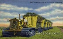 far001086 - Field Transportation, Florida Everglades Farming Postcard Post Card