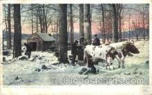 far001147 - Sugar camp,Vermont Farming, Farm, Farmer, Postcard Postcards