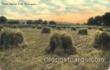 far001217 - Harvest Field, Washington Farming, Farm, Farmer, Postcard Postcards