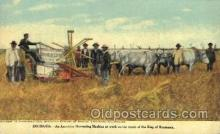 far001230 - Roumania- American Harvesting Machine Farming, Farm, Farmer, Postcard Postcards