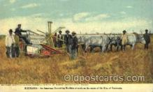 far001254 - Roumania- American Harvesting Machine Farming, Farm, Farmer, Postcard Postcards