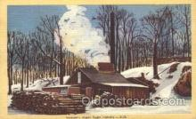 far001257 - Maple Sugar, Vermont Farming, Farm, Farmer, Postcard Postcards