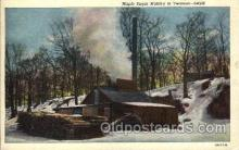 far001258 - Maple Sugar Making, Vermont Farming, Farm, Farmer, Postcard Postcards