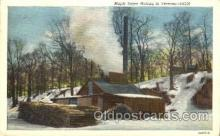 far001259 - Maple Sugar, Vermont Farming, Farm, Farmer, Postcard Postcards