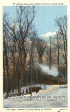 far001275 - Making Vermont Maple Sugar Farming, Farm, Farmer, Postcard Postcards