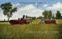 far001282 - Kansas Harvesting Farming Old Vintage Antique Postcard Post Card