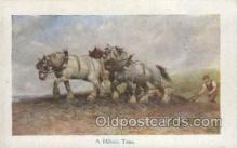 far001301 - A Hillside Team Farming Old Vintage Antique Postcard Post Card
