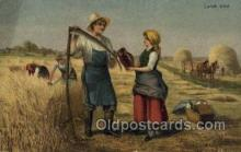 far001302 - Lunch Time Farming Old Vintage Antique Postcard Post Card