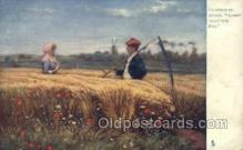 far001312 - Coming thro the Rye Farming Old Vintage Antique Postcard Post Card