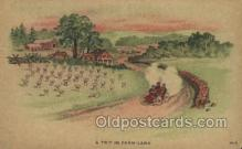 far001316 - Trip in Farm land Farming Old Vintage Antique Postcard Post Card