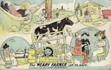 far001337 - Weary Farmer Farming Old Vintage Antique Postcard Post Card