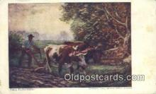 far001409 - Fall Ploughing Farming Postcard Post Card