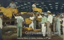 far001533 - Unloading Tobacco, Auction Farming Postcard Post Card