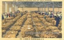 far001546 - Southern Loose Leaf Tobacco Warehouse Farming Postcard Post Card