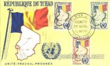 fgs001080 - Republique Dutchad Flag, Flags, Postcard Post Card