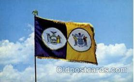 fgs100042 - Port of New York, USA Flag, Flags, Postcard Post Card