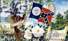 fgs100049 - Georgia, USA Flag, Flags, Postcard Post Card