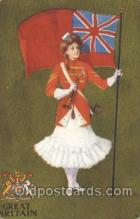 fgs100082 - Artist St. John, Great Britain Country Flag, Flags, Postcard Post Card