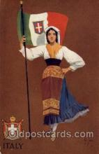 fgs100089 - Artist St. John, Italy Country Flag, Flags, Postcard Post Card
