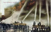 fir001014 - High Pressure in Action, Fire Related Postcard Post Card