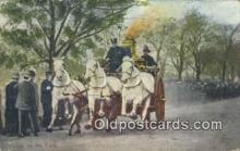 fir001069 - Going to the Fire  Postcard Post Cards Old Vintage Antique
