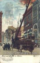 fir001092 - Hook & Ladder in Action  Postcard Post Cards Old Vintage Antique