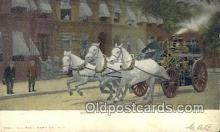 fir001097 - Going to the Fire  Postcard Post Cards Old Vintage Antique