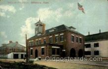 fir050003 - Attleboro, Mass., Massachusetts, USA Fire Department Postcard Post Card