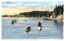 fis001075 - Trout Fishing, Lake Outlet, Yellowstone Park, Fishing Postcard Post Card