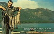 fis001078 - Muncho Lake, British Columbia, Trout Fishing Postcard Post Card