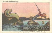 fis001159 - Greetings from Fort Frances, CanadaGreetings from Fort Frances, Canada, Fishing Postcard Post Card
