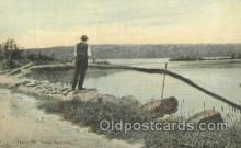 fis001168 - Togus Lake, Togus Maine, USATogus Maine, USA Fishing Postcard Post Card