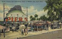 fis001287 - Miami Florida, Yacht Basin, USA Fishing Old Vintage Antique Postcard Post Card