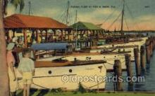 fis001299 - Pier 5 Miami, Florida, USA Fishing Old Vintage Antique Postcard Post Card