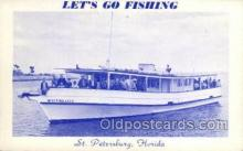 fis001304 - St. Petersburg, Florida, USA Fishing Old Vintage Antique Postcard Post Card