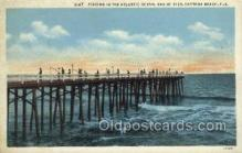 fis001324 - Daytona Beach, FL, USA Fishing Old Vintage Antique Postcard Post Card