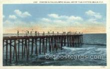 fis001325 - Daytona Beach, FL, USA Fishing Old Vintage Antique Postcard Post Card