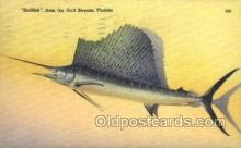 fis001334 - Gulf Stream, Florida, USA Fishing Old Vintage Antique Postcard Post Card