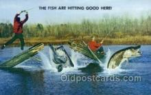 fis001357 - Fishing Old Vintage Antique Postcard Post Card