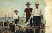 fis001378 - Fishing Old Vintage Antique Postcard Post Card