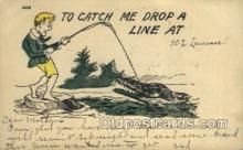 fis001380 - Fishing Old Vintage Antique Postcard Post Card
