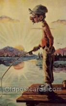 fis001461 - Fishing Old Vintage Antique Postcard Post Card