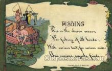 fis001475 - Fishing Old Vintage Antique Postcard Post Card