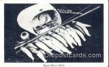 fis001513 - Rapid River, Michigan, USA Fishing Postcard Printed Photo Post Card Old Vintage Antique
