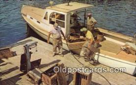 fis001549 - Lobster Boat  Postcard Post Cards Old Vintage Antique