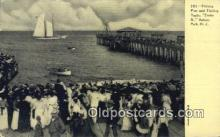 fis001567 - Fishing Pier & Fishing Yacht Asbury Park, NJ, USA Postcard Post Cards Old Vintage Antique