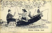 fis001586 - Family Fishing Trip  Postcard Post Cards Old Vintage Antique