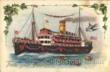 flr001081 - Ship Flower, Flowers, Postcard Post Card