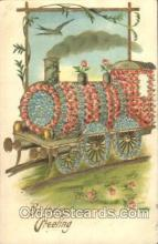 flr001095 - Train Flower, Flowers, Postcard Post Card