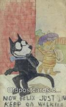 flx000287 - Hand Painted Felix the Cat Postcard Post Card
